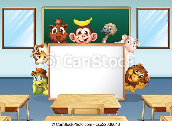 Animales en clase - csp22036648