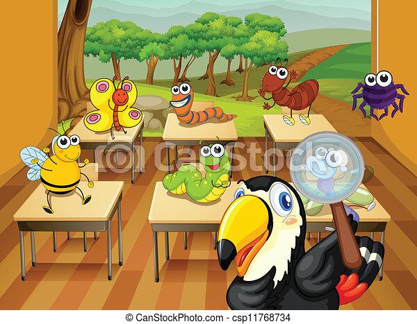 Animales en clase - csp11768734
