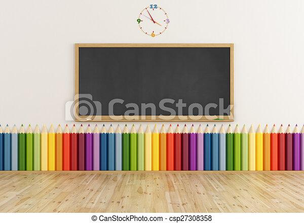 Aula colorida - csp27308358