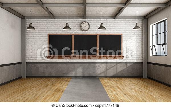 Retro aula - csp34777149