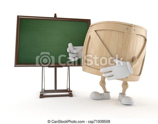 carácter, cajón, blanco, pizarra - csp71938508