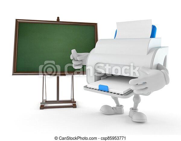 carácter, pizarra, blanco, impresora - csp85953771