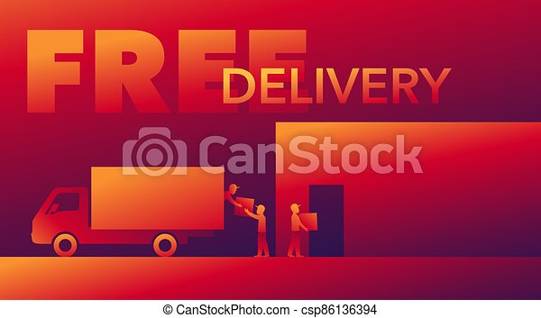 carro de entrega, -, cargadores, libre, silouette - csp86136394
