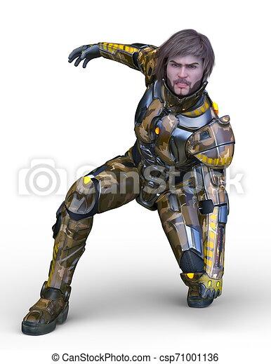 CG 3D representando al hombre cibernético - csp71001136