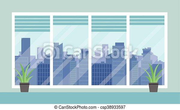 Cityscape y oficina - csp38933597