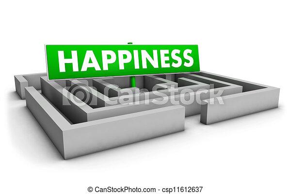 Concepto de felicidad - csp11612637