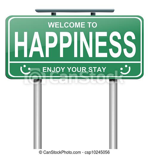 Concepto de felicidad. - csp10245056