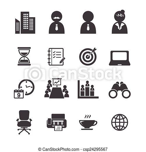 El icono de la oficina - csp24295567