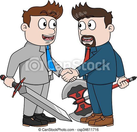 Cooperando hombre de negocios - csp34611716
