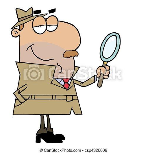 Un detective hispano - csp4326606