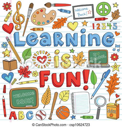 De vuelta a la escuela aprendiendo garabatos - csp10624723