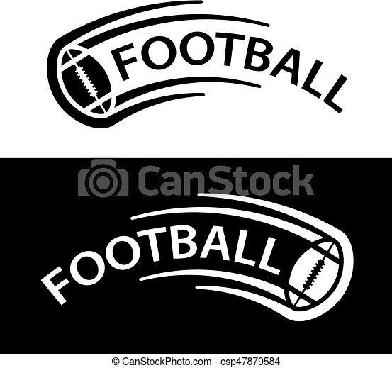 El símbolo de la línea de movimiento de pelota de fútbol americano - csp47879584