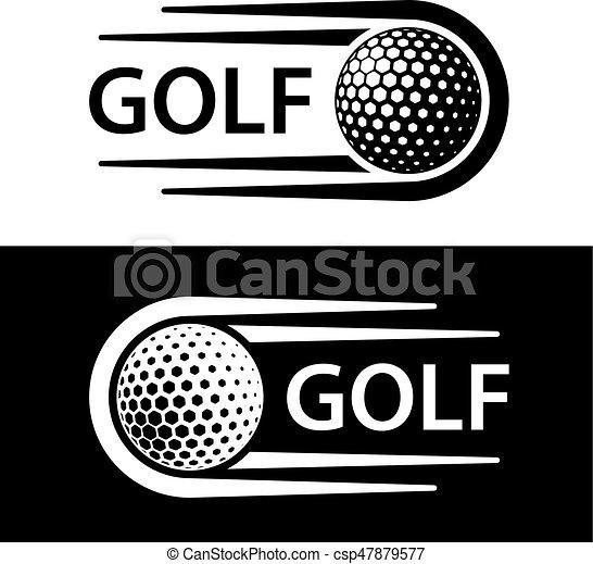 El símbolo de la línea de movimiento de pelota de golf - csp47879577