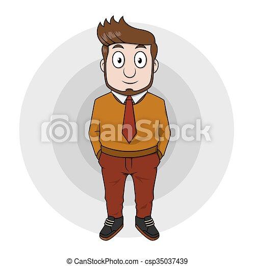 Hombre de negocios usando camisa de manga larga - csp35037439