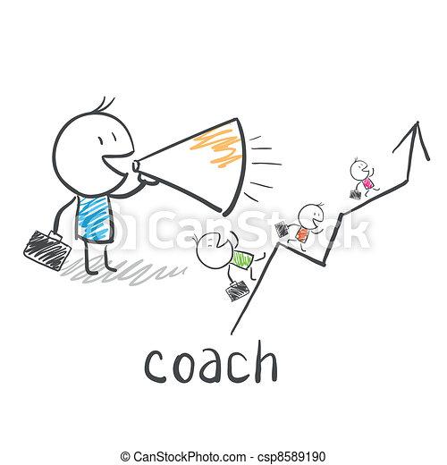 Entrenador de negocios, entrenador - csp8589190