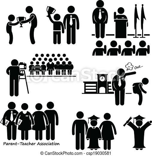 El ícono de eventos estudiantiles - csp19030581