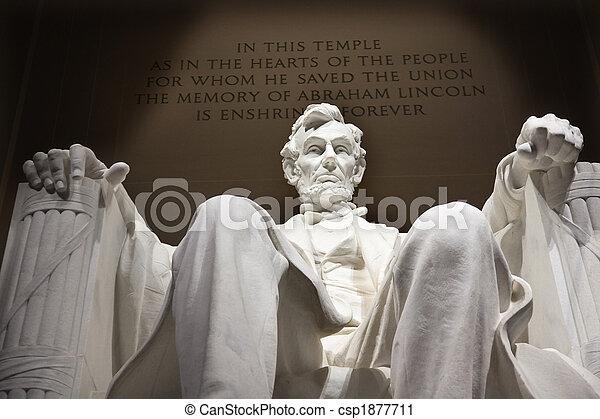 La estatua de Lincoln blanco cierra Washington DC - csp1877711
