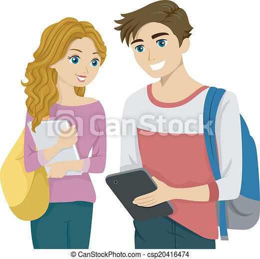 Una tableta de estudiante - csp20416474