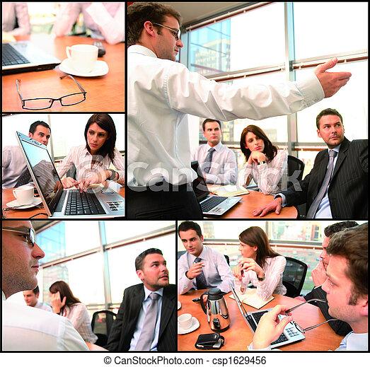 Un grupo de negocios con ideas - csp1629456