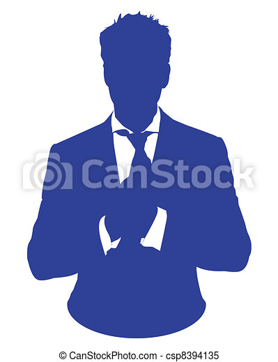 El hombre de negocios se adapta a avatar - csp8394135