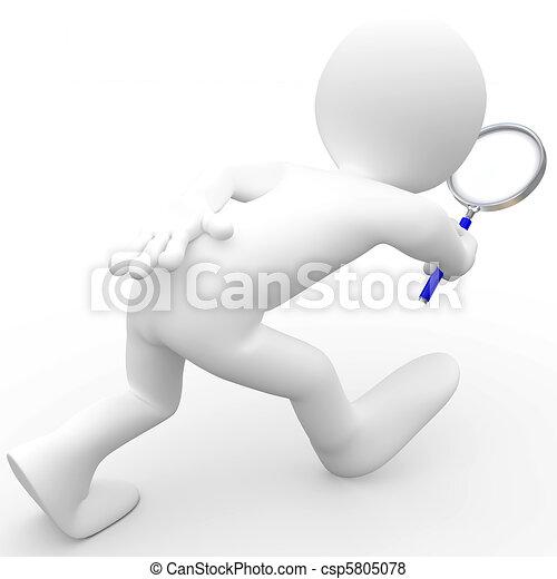 Hombre con lupa - csp5805078