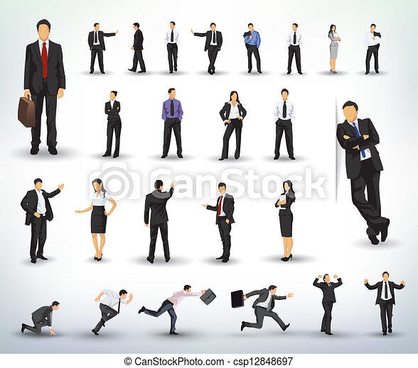 La gente de negocios ilustra - csp12848697