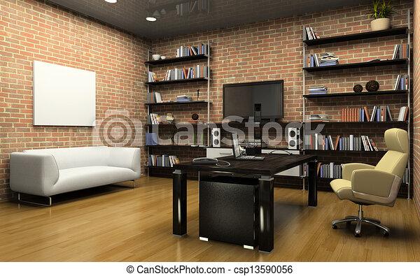 lnterior de la oficina privada - csp13590056