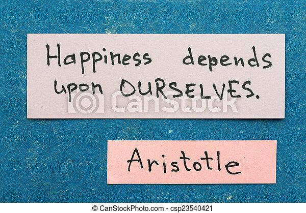 La felicidad depende - csp23540421