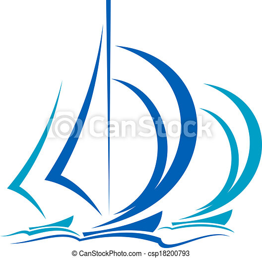 Movimiento dinámico de veleros - csp18200793