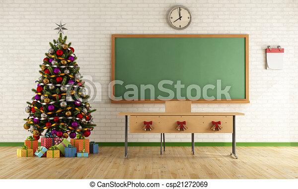 Aula de Navidad - csp21272069