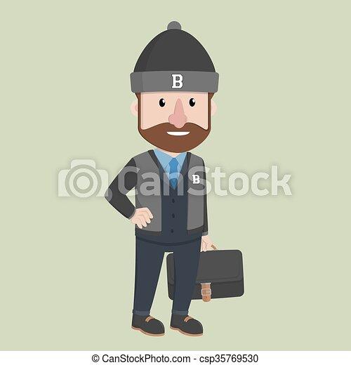 Ropa de hombre de negocios - csp35769530