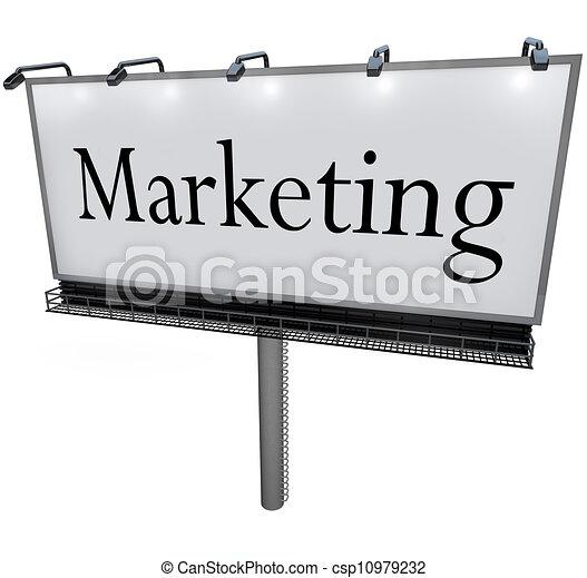 Señal de promoción de anuncios de anuncios - csp10979232