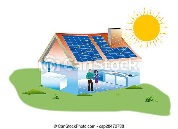 Paneles solares - csp28470738