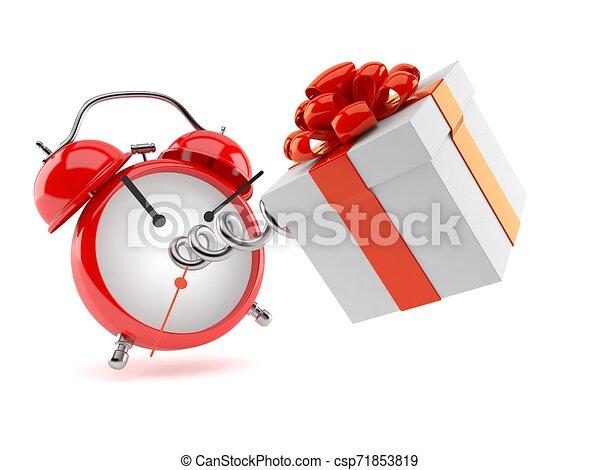 Regalo con despertador - csp71853819