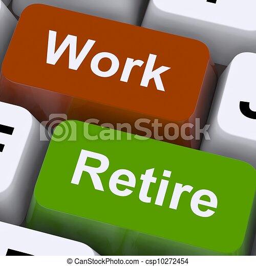 El puesto de trabajo o de jubilación muestra la opción de trabajar o jubilarse - csp10272454