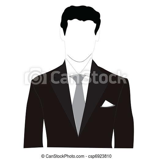Hombres con traje negro - csp6923810