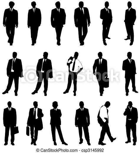 Hombre de negocios siluetas - csp3145992