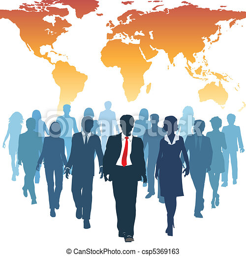 Los empresarios de recursos humanos trabajan en equipo - csp5369163