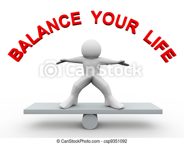 Tercero, balancea tu vida - csp9351092